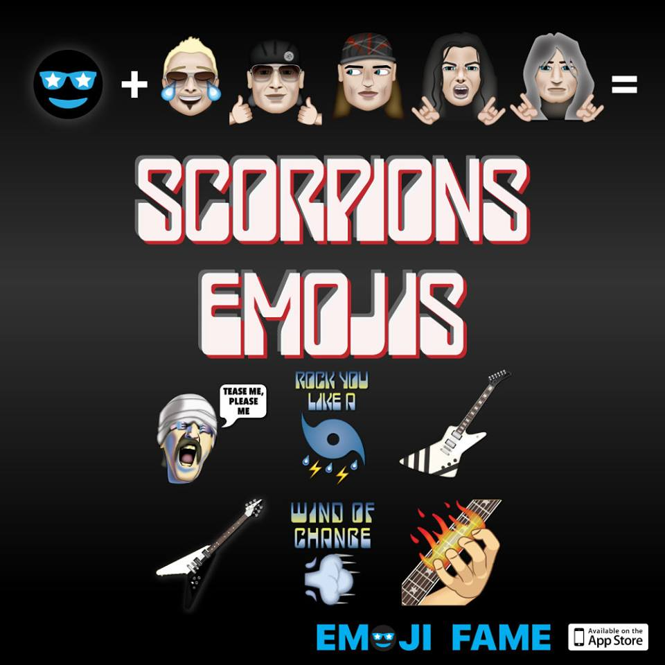 SCORPIONS are proud to present, the official SCORPIONS Emojis