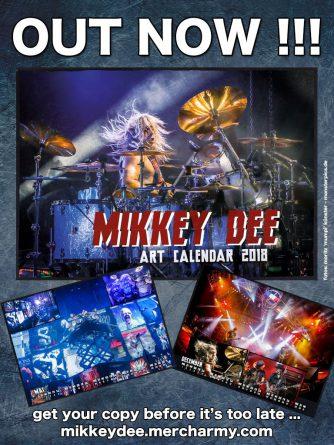 Mikkey Dee's 2018 Art Calendar