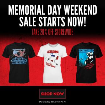 Memorial Day Weekend Webstore Sale