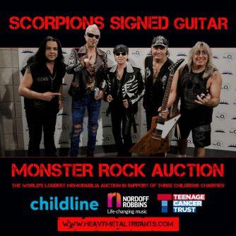 Scorpions Memorabilia – Bid in the Monster Rock Auction